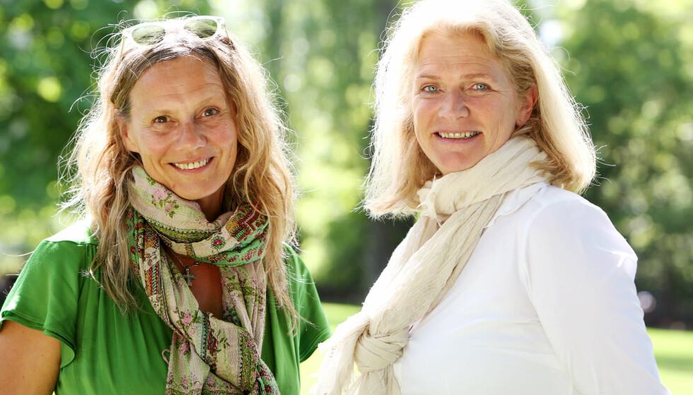 IKKE EGOISTER: Besteforeldre som tilbringer deler av året i Syden er langt fra egoistiske, mener Heidi Köhn og Christin Engelstad. Foto: Britt Krogsvold Andersen