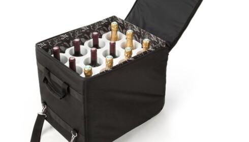 <strong>VINKOFFERT:</strong> Med en polstret vinkoffert kan du ta med deg vinkvoten for to personer (12 viner), og sende kofferten som innsjekket bagasje. Foto: Rufo.