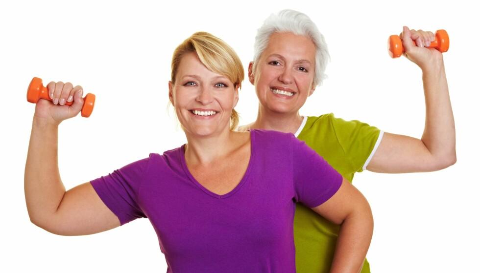 KJØR PÅ!: Jo eldre vi blir, jo viktigere er det å opprettholde muskelmassen. Foto: Scanpix.