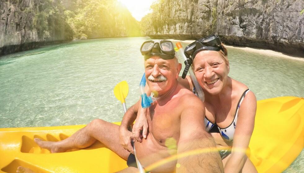 LIVSNYTING: 60-åringer vil bruke mer penger på reise i år. Foto: Scanpix.
