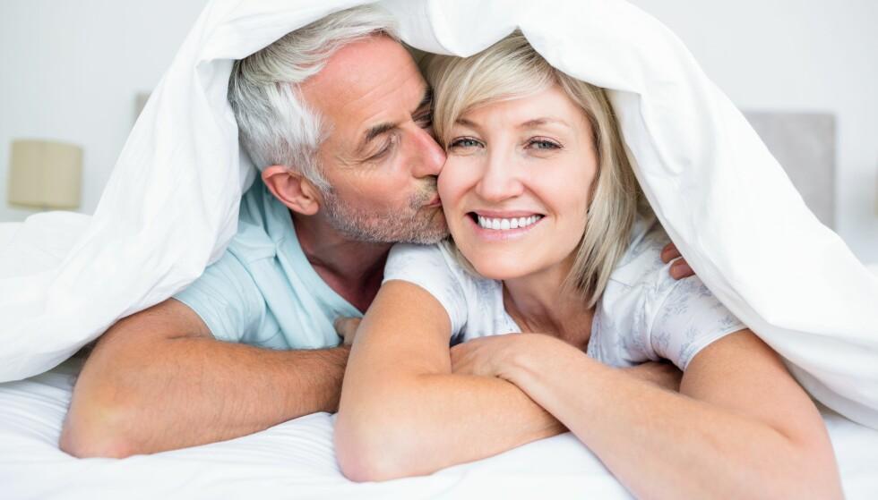 FORNØYD: Sex blir bedre med alderen, og særlig menn er mest fornøyd i 50-årene. Foto: Scanpix.