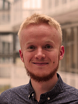FORSKER: Doktorgradsstipendiat Trond Vigtel ved Frischsenteret i Oslo. Foto: Frischsenteret.