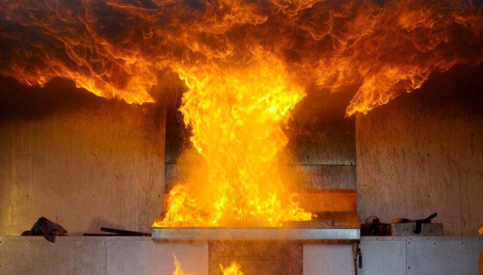<strong>KJØKKENBRANN:</strong> Brann starter som regel på kjøkkenet. Foto: Scanpix.