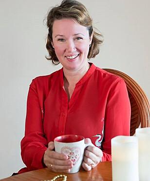 TREBARNSMOR: Kristine Storli Henningsen er også damen bak bloggen Antisupermamma.no. Foto: Vibeke Montero.