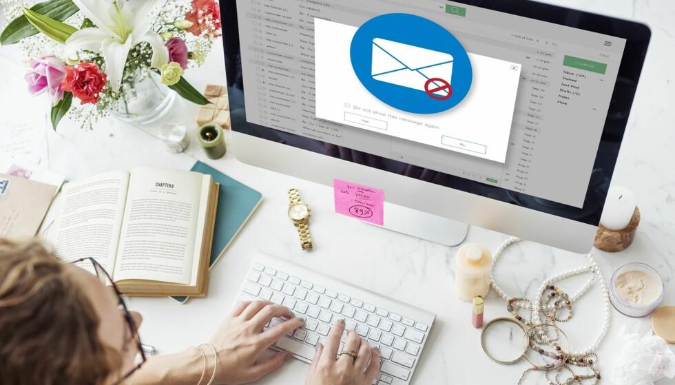 SPAM: Svindel og reklame skal som regel fanges opp av spam-filteret på e-postkontoen din, men av og til kan det havne rett i innboksen din. Foto: Scanpix.