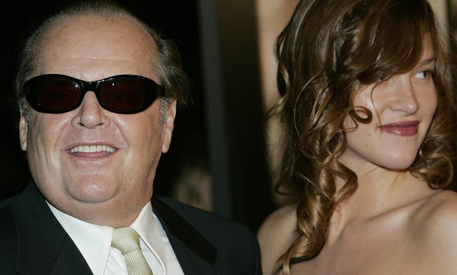 STOR ALDERSFORSKJELL: I 2006 skal Jack Nicholson ha innledet et romantisk forhold til sin 48 år yngre medskuespiller Paz de la Huerta. Forholdet varte dog ikke ut året. Drøy aldersforskjell, vil mange kanskje si. Men det er flere grunner til at unge, vakre kvinner tiltrekkes av vesentlig eldre menn, ifølge ekspertene. Foto: Scanpix.