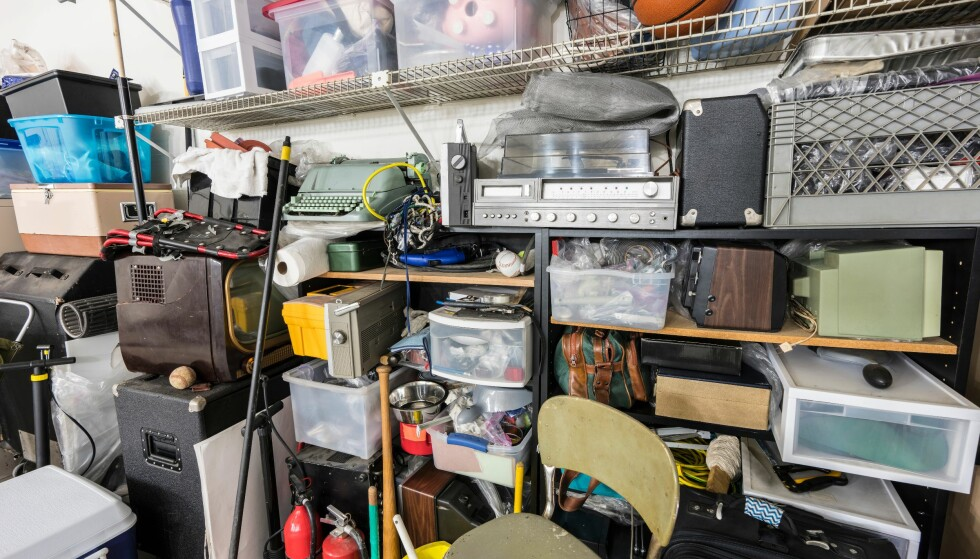 ROT: Veldig mange eier flere ting enn de har bruk for, og det blir liggende å ta plass. Foto: Shutterstock