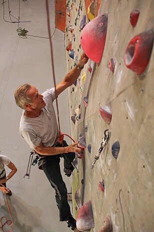 RASKE: Til tross for diverse skader suser klatrerne til topps. Foto: Camilla Hjelmeseth