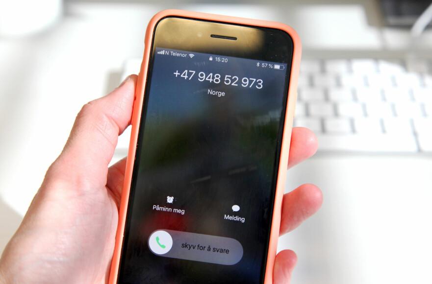 <strong>SVAR:</strong> Du kan gi telefonselgere beskjed direkte om du ikke ønsker å bli oppringt (nummeret på telefonen har for ordens skyld ingenting med telefonsalg å gjøre). Foto: Lisa Wisløff