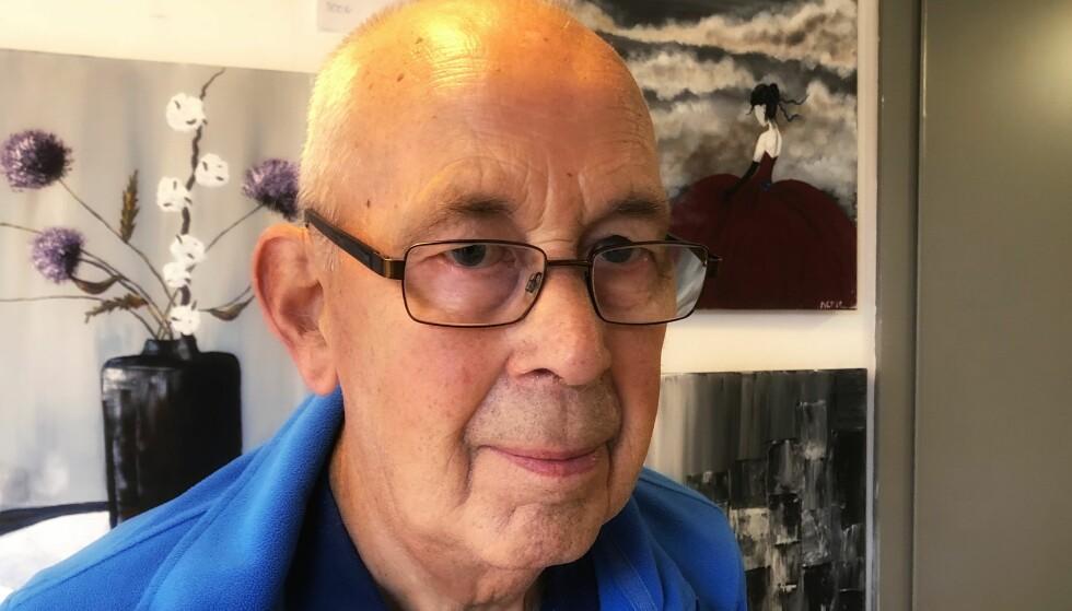 GODT I NORGE: - Jeg føler meg heldig som bor i Norge hvor de eldre får så god hjelp som de får, sier pensjonist Audun Thorsheim (81). Foto: Linn Merete Rognø