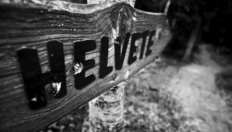 RELIGION: Helvete er et sted i Norge, men også et banneord som språkforsker Ruth Vatvedt Fjeld har plassert i kategorien «Gud». Foto: Thorfinn Bekkelund / Samfoto