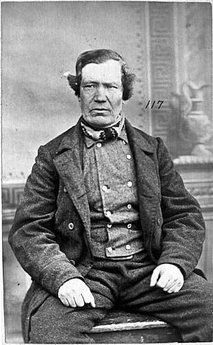 JAKOB WALLIN: Han myrdet en av fangevokterne i Bergen med en hjemmelaget kniv. Han ble halshugget i 1876. Foto: Utlån Torgrim Sørnes.