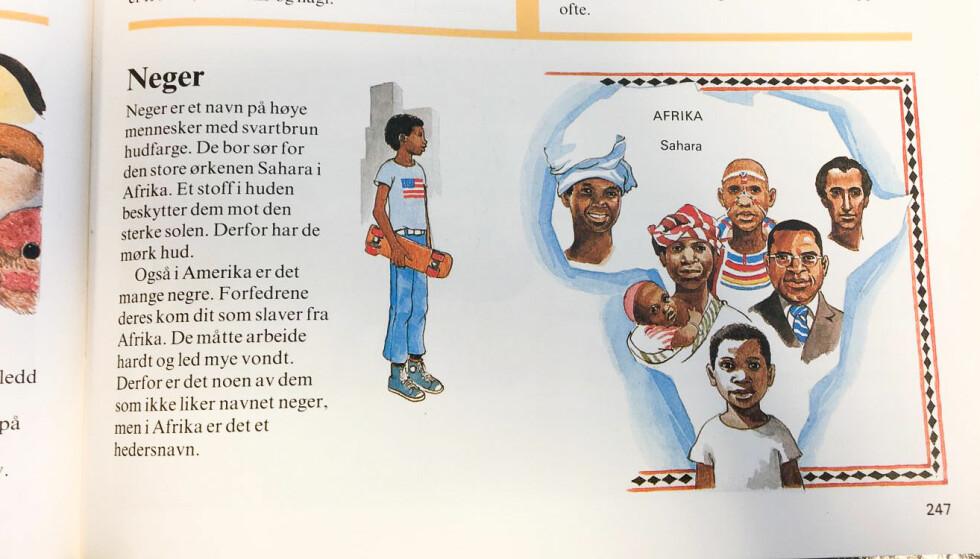 «Neger» har også fått egen plass i barneleksikonet. Foto: Camilla Hjelmeseth