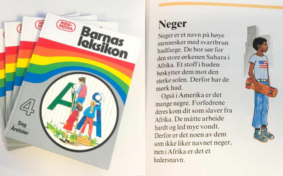 «NEGER»: Mye rart har vært akseptert gjennom tidene. På 80-tallet var det dette noe av det man lærte barna. Foto: Camilla Hjelmeseth
