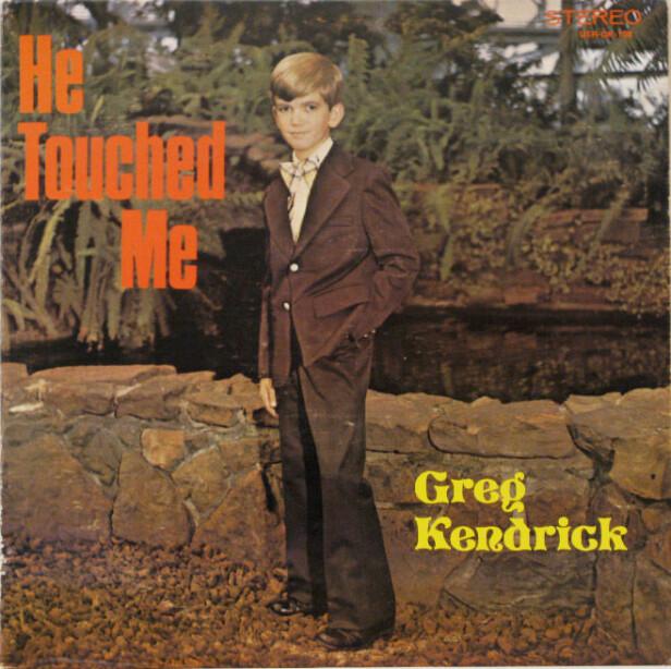 UHELDIG: Hvorfor Greg Kendrick valgte å ha bilde av en ung gutt på coveret av albumet «He touched me», vet vi ikke. Men vi kan gjerne være enige om at han burde ha byttet ut albumtittel, eventuelt bildet, med noe som ikke kunne misforstås?
