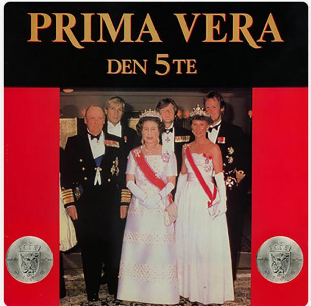 TRUKKET FRA BUTIKKENE: Prima Veras album «Den 5te» måtte trekkes fra markedet fordi det hadde en manipulert versjon av kongefamilien som cover.