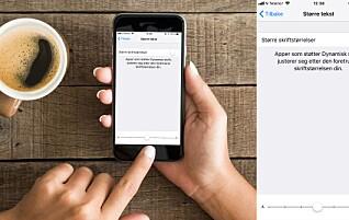 Slik forstørrer du teksten på mobilen
