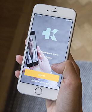 APP: Slik ser KRY-appen ut. Foto: KRY
