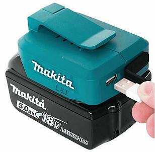 Makita ADP05: Kan brukes med 14,4 - eller 18V-batteri. kr 335, staypro.no. Foto: Produsenten