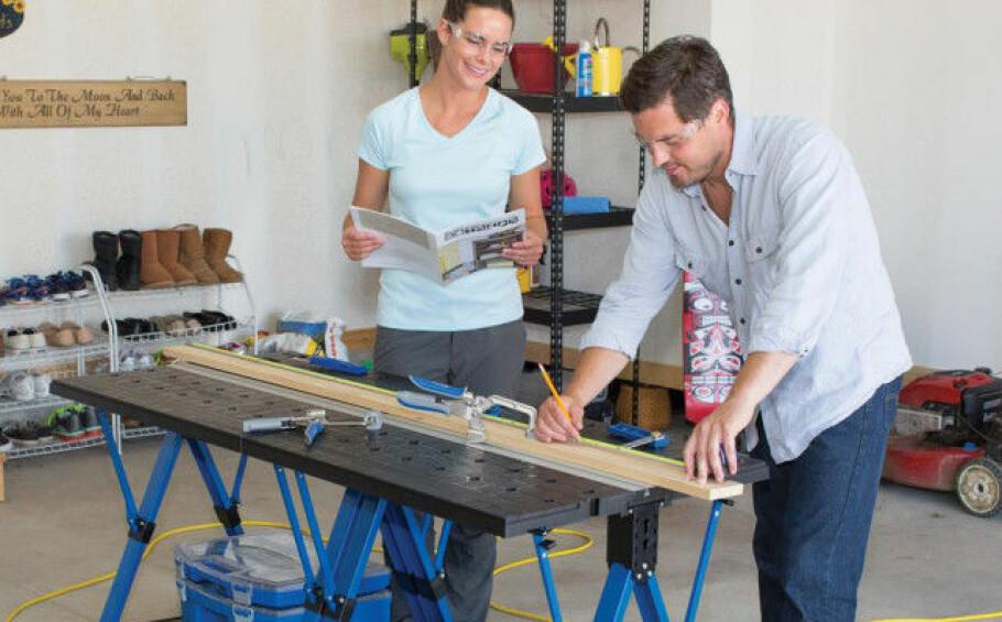 DOBBEL: Med denne benken fra KREG kan du koble sammen flere benker. Pris 2036 (gustavsenas.no) Foto: Produsenten