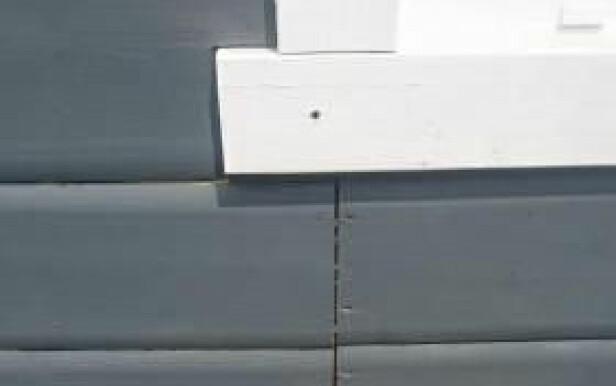 SKJØTER: Fordel skjøtene ut over hele veggen. Foto: Fryktelig dårlig håndverk