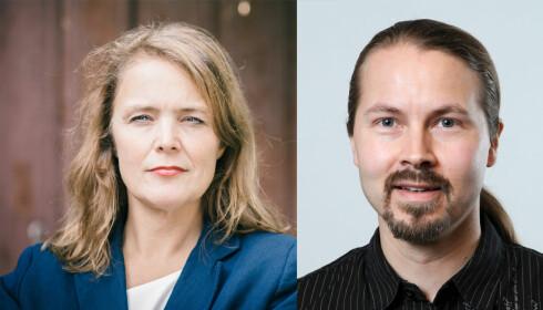 Pernille Huseby i Actis, og Sturla Kristoffer Naas Johansen i RUStelefonen. Foto: Actis/ Privat