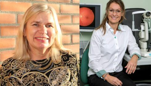 Unn Ljøner Hagen, leder i Blindeforbundet, og Trine Johnsen, fagansvarlig optiker i Specsavers. Foto: Blindeforbundet/ Morten Bendiksen