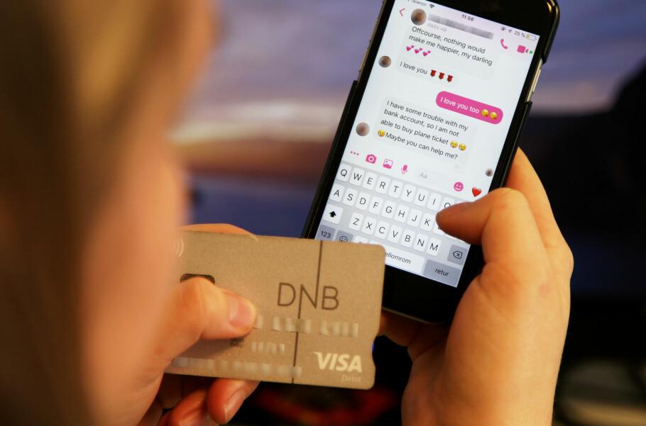 LAR SEG LURE: Hundrevis av nordmenn sender millionbeløper i året til såkalte kjærlighetssvindlere. Illustrasjonfoto: Lisa Wisløff