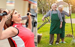 Styrketrening kan gjøre deg mer selvstendig i senere alder