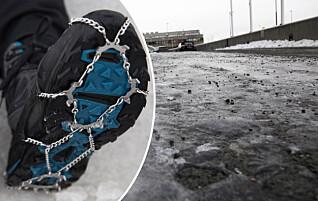 Vil du unngå å tryne på isen? Da bør du velge riktig sko