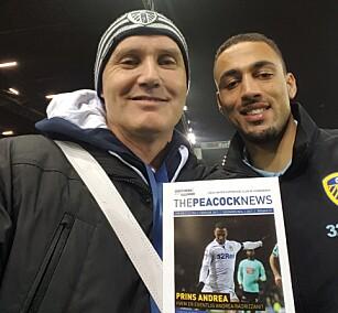 OPTIMISTISK: Anders Palm (til venstre) tror Leeds rykker opp denne sesongen.