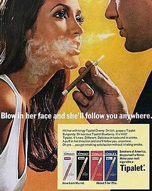 I 1975 ble det forbudt med all reklame for tobakk i Norge.