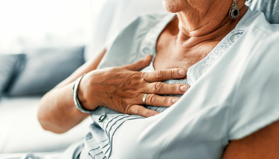 HJERTEBANK: Typiske symptomer på hjerteflimmer eller atrieflimmer, er uregelmessig og ofte høy puls. Tilstanden kan behandles. Foto: Shutterstock