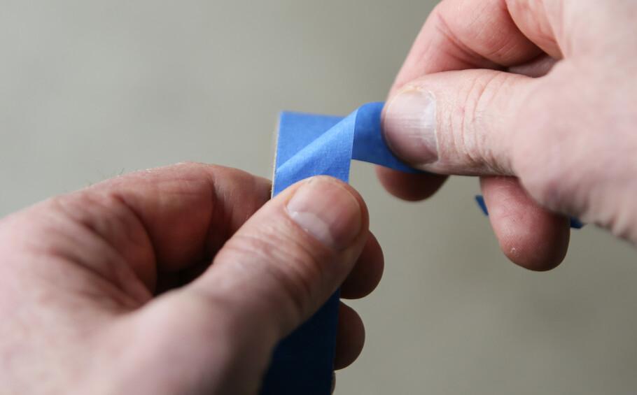 FINN ENDEN: For å finne igjen enden på teipen er dette en smart metode. Foto: Øivind Lie-Jacobsen