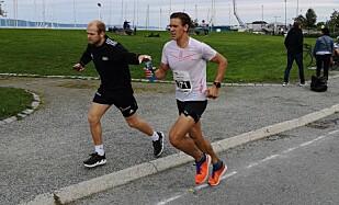 - ALDRI IGJEN: - Aldri igjen, sa Håkansson etter han fikk ødelagt et maratonløp av intertrigo. Foto: Privat.