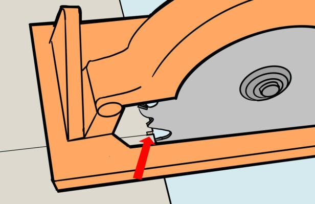 På streken. Gjør en test og sjekk at snittet er på streken. Illustrasjon: Øivind Lie-Jacobsen
