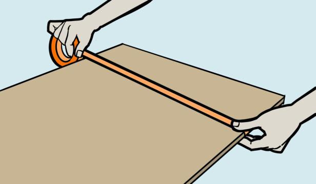Teip. For å unngå oppflising er teip en suveren hjelper. Illustrasjon: Øivind Lie-Jacobsen