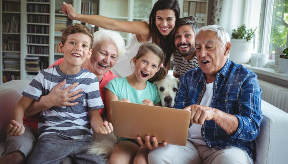 Mange eldre som bruker nettet, har lært det viktigste på jobben. Det kan hende yngre generasjoner har bidratt også. Foto: Shutterstock / NTB scanpix
