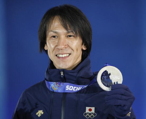 SØLVMEDALJE: Under OL i 2014 fikk Kasai sin foreløpig siste individuelle OL-medalje. Foto: REUTERS/Grigory Dukor.
