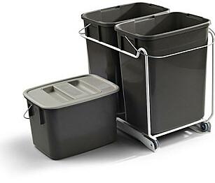 Uttrekksvogn: Plass til 3 beholdere i forskjellige størrelser. kr 543,75, witre.no Foto: Produsenten