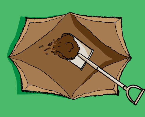 3. Brett ut flikene og fyll i jord. Illustrasjoner : Øivind Lie-Jacobsen