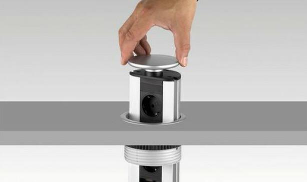 Pop-Up Stikkontakt: Uttrekkbar strømsøyle med 3 stikkontakter. Produsent: EVOline Pris: kr 1 499, elektroimportoren.no Foto: Produsenten