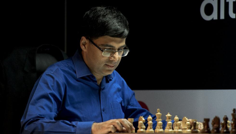 GLAD I SJAKK: Viswanathan Anand er over gjennomsnittet glad i sjakk. Foto: Carina Johansen / NTB Scanpix.