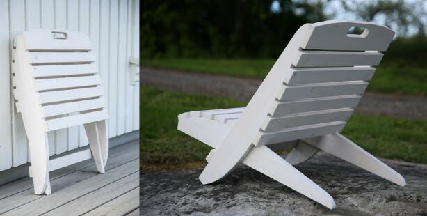Fiks ferdig: Når stolen er slått sammen, gjør den lite ut av seg. Foto: Øivind Lie-Jacobsen