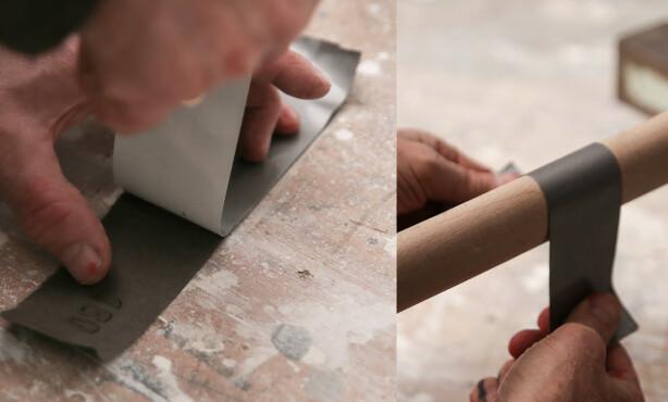 Teip: Legger du teip på baksiden av papiret rives det ikke i stykker. Foto: Øivind Lie- Jacobsen