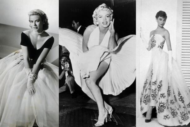PIN-UP OG PRINSESSER: Grace Kelly, Marilyn Monroe og Audrey Hepburn hadde svært ulik stil, men oppnådde alle en global stilikonstatus på 50-tallet. Foto: Moviestore/REX/NTB Scanpix.