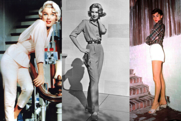 VIDT FORSKJELLIGE: Marilyn hadde ofte en sensuell stil, Grace en moderlig stil og Audrey en ungdommelig stil. Foto: Moviestore/REX/NTB Scanpix.