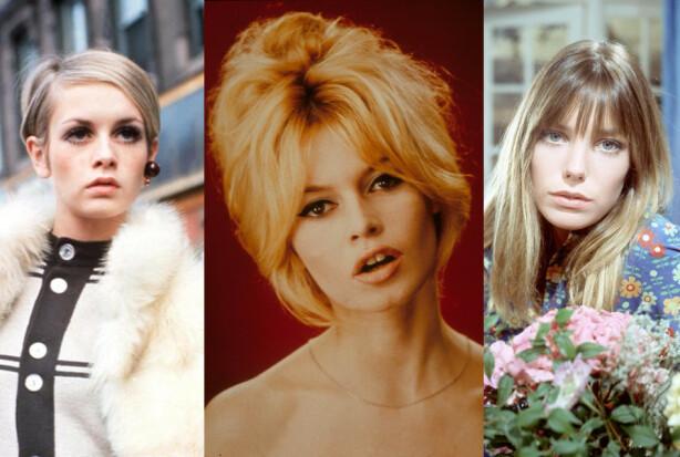 SVINGENDE FREMTID: Twiggy, Brigitte Bardot og Jane Birkin var selve definisjonen på 60-tallstrendene. Foto: Zdenko Hirschler/Moviestore/Fremantle Media/REX/NTB Scanpix.