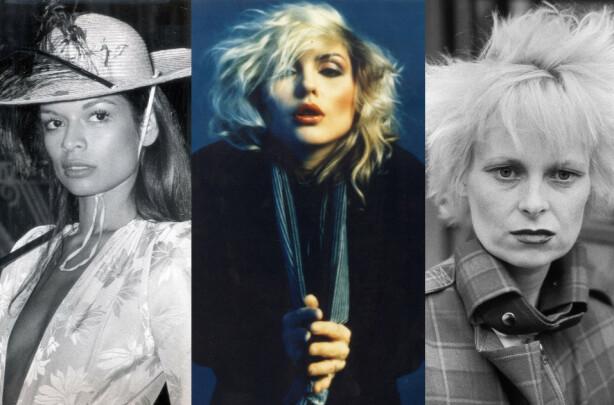 UNIKE: Selv om de vidt forskjellige stilene til Bianca, Debby og Vivienne har blitt kopiert av kvinner over hele verden, var de svært unike i sin egen look på 70-tallet. Foto: ANL/Tim Jenkins/Mick Rock/Penske Media/REX/NTB Scanpix.