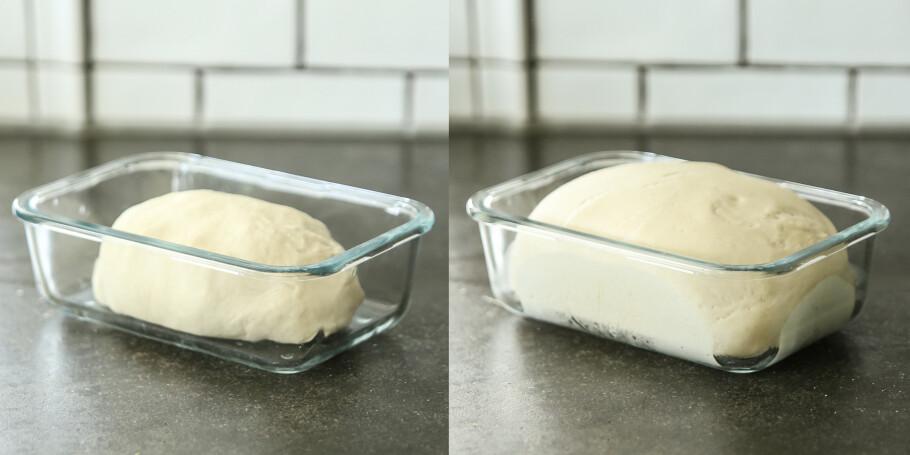 Hurtigheving: Vi prøvde å heve brøddeig i mikrobølgeovnen. Foto: Øivind Lie-Jacobsen